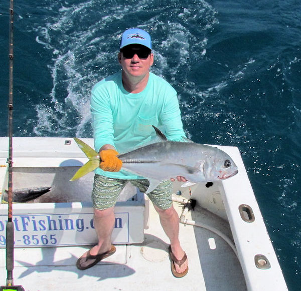 Horse Eye Jack caught and released in Key West fishing on charter boat Southbound