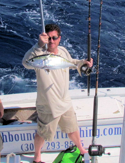Black Fin Tuan caught in Key West fishing on charter boat Southbound