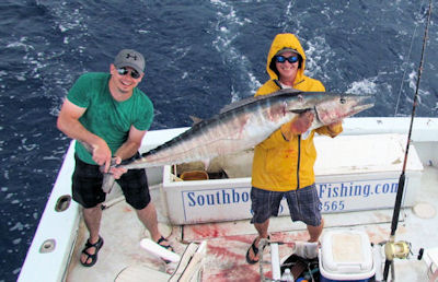 76 lb. Wahoo caught in Key West fishing on Key West charter boat Southboud