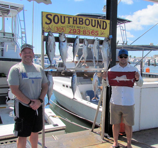 Bonitos and Tunas caught in Key West fishing on charter boat Soutbound