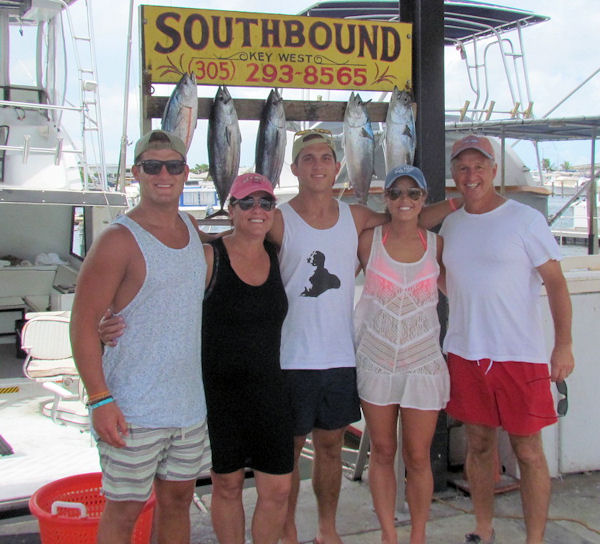 Bonitos and Tuna caught in Key West fishing on Charter Boat Southbound