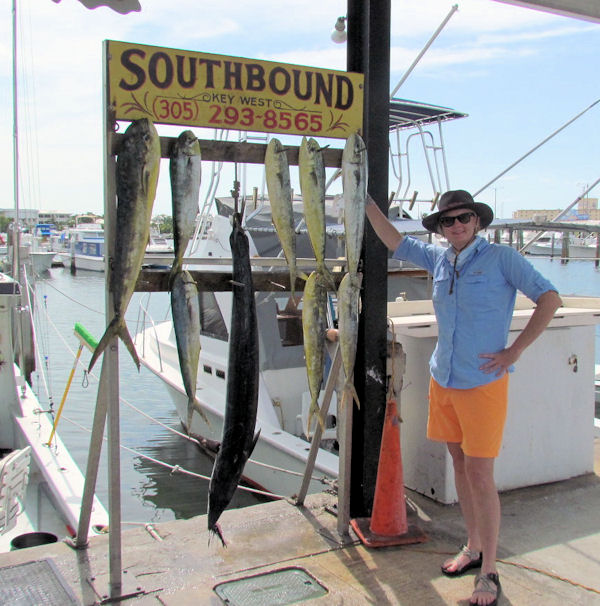 Dolphin and a Wahoo  caught in Key West fishing on charter boat Southbound