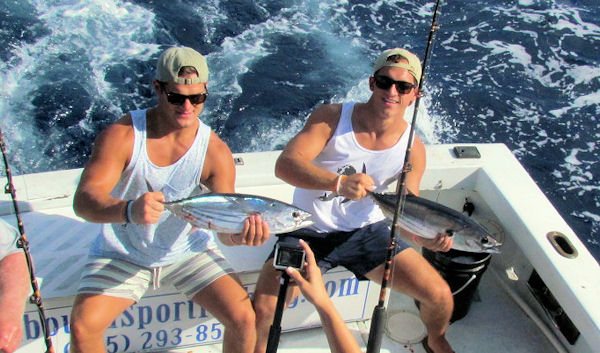 Skip Jaclk Tuna caught in Key West fishing on Charter Boat Southbound