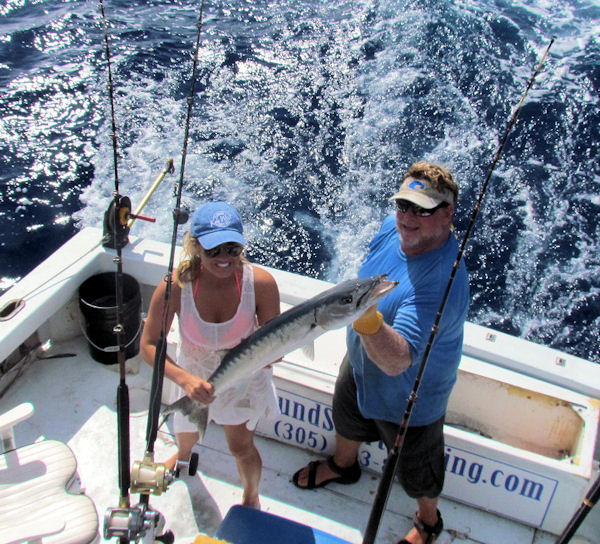 Barracuda caught and released in Key West fishing on Charte boat Southbound