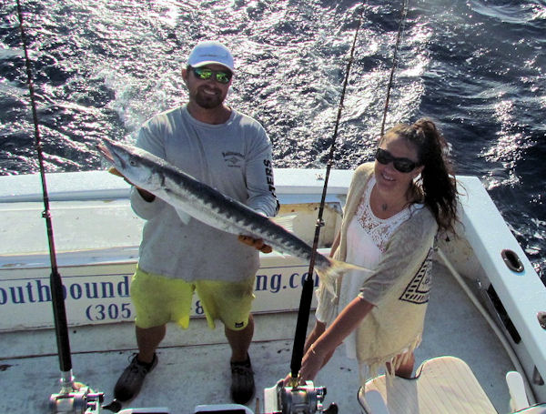 Big Barracuda caught in Key West charter fishing on the Southbound