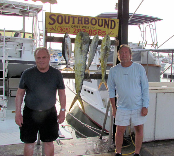 A Black Fin Tuna and some Nice Dolphin caught in Key West fishing on charter boat Southbound