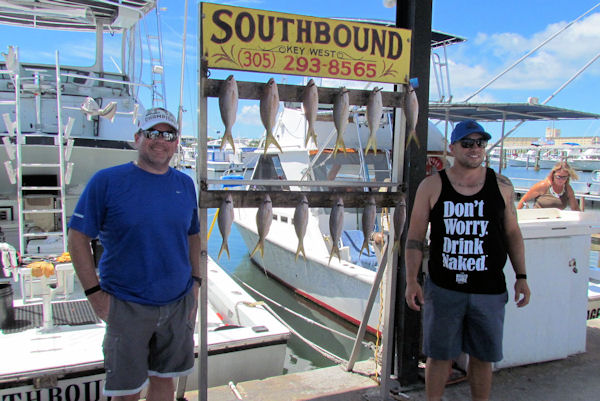 Yellow Tail snapper caught in Key West fishing on charter boat Soutbound