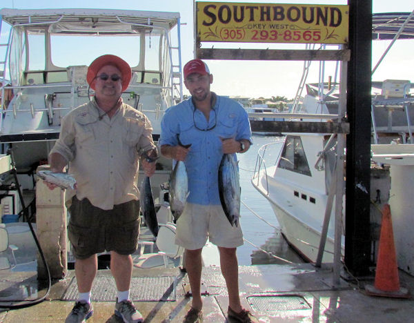 Tuna and bonito caught in Key West fishing on charter boat Southbound