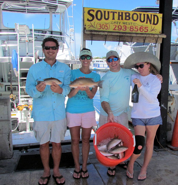 Tasty Snappers caught in Key West fishing on Charter Boat Southbound