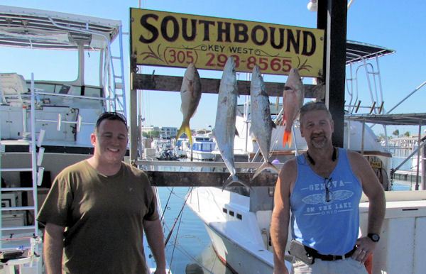 Snappers and Mackerels caught  in Key West fishing on charter boat Southbound