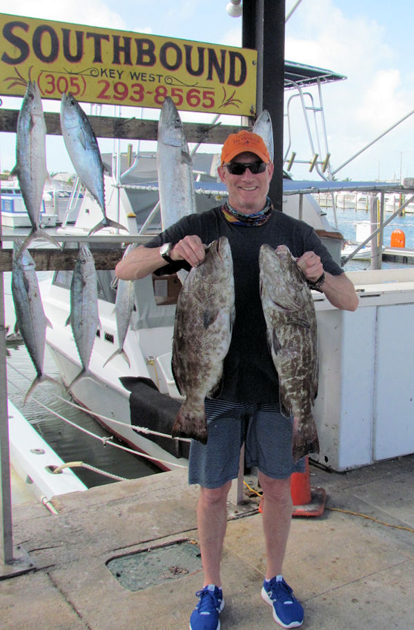 Black Groupers caugth in Key West Charter fishing on the Southbound