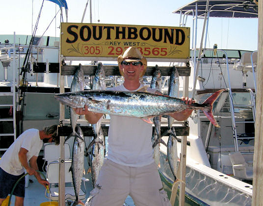 Kingfish caught aboard Southbound in Key West Florida in 2006