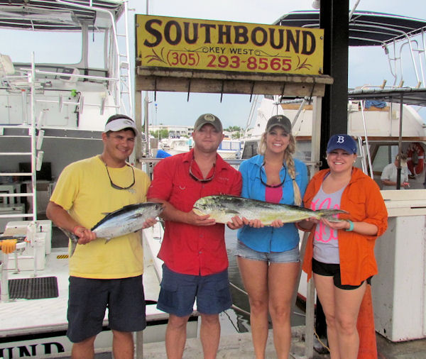 Dolphin and Tuna caught in key west fishing on charter boat Southbound