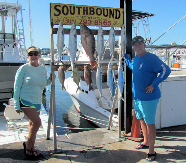 Snapper, Mackerel and Jacks caught fishing on Key West charter boat Southbound