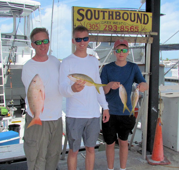 Snapper caught in Key West fishing on charter boat Southbound