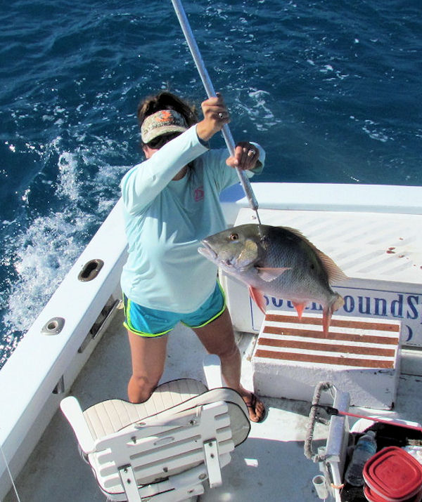 Delicious Mutton Snapper caugth fishing on Key West charter boat Southbound
