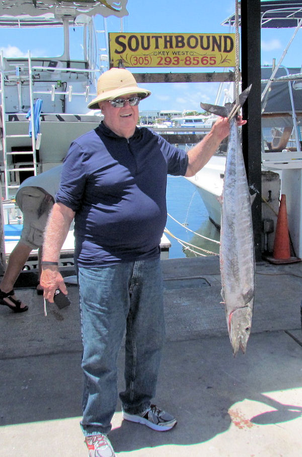 26lb Wahoo caught in Key West fishing on Charter Boat Southbound