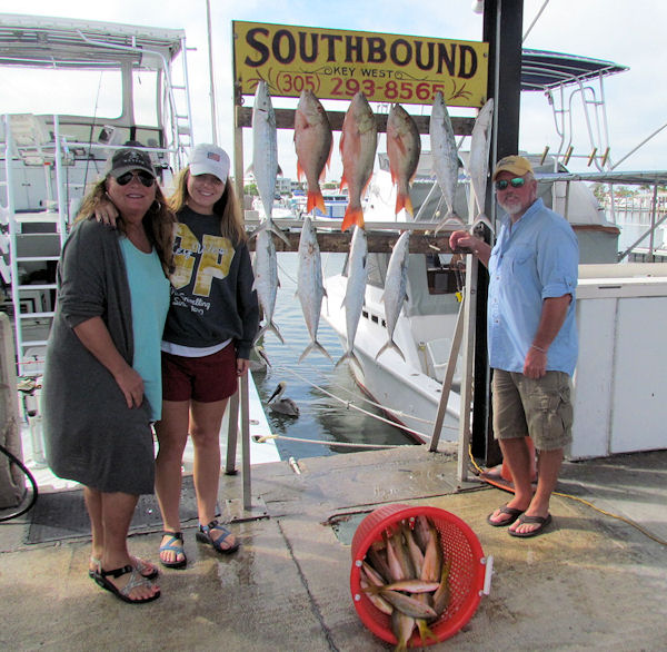 Cero Mackerel, Mutton Snapper and Yellow Tail Snapper caught in Key West fishing on Charter Boat Southbound