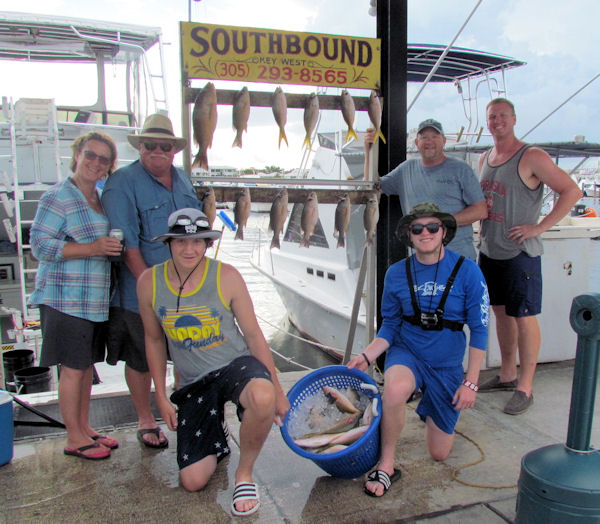 Yellow Tail and Mangro Snappers caugth in Key West fishing on charter Boat Southbound