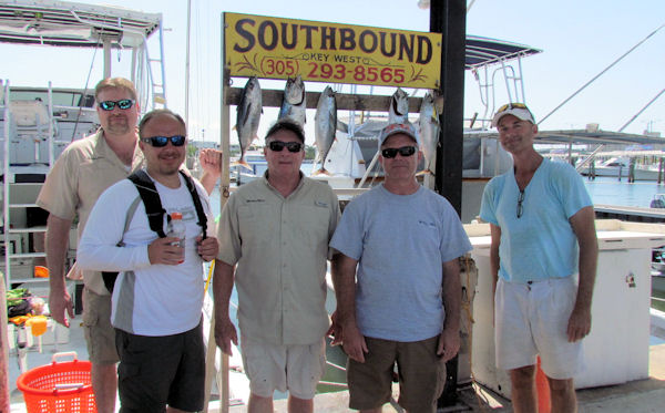 Tunas and bonitos caught in Key West fishing on charter boat Southbound