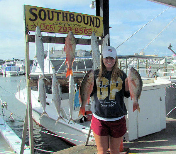 Delicious Mutton Snapper Snapper caught in Key West fishing on Charter Boat Southbound
