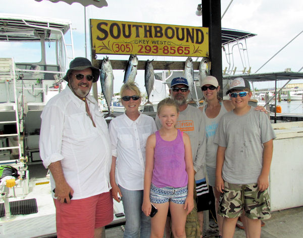 Bonitos and small tuna caugth in Key West fishing on charter Boat Southbound