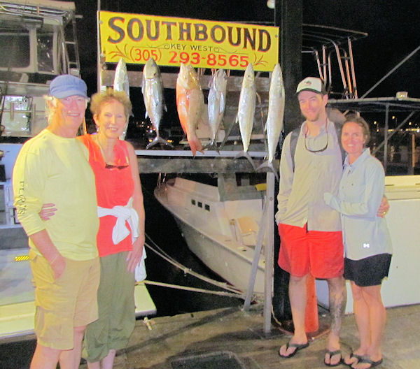 Cero Mackerel, Mutton Snapper and Black Fin Tuna caught in Key West fishing on Charter Boat Southbound