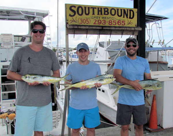 Mahi caught in Key West fishing on charter boat Soutbound