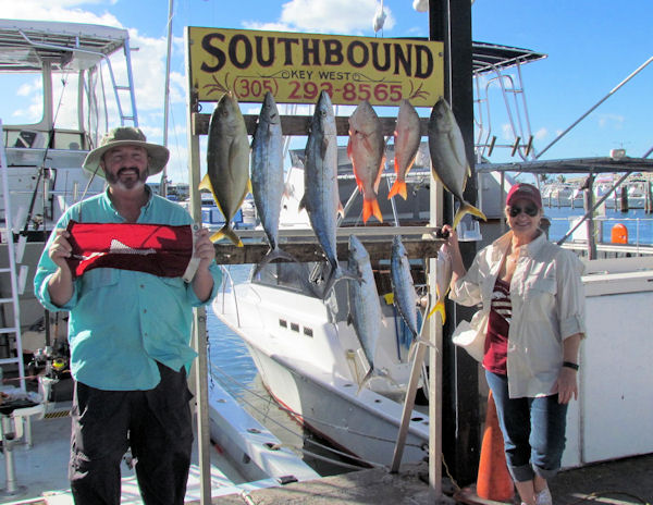Cero Mackerel, Mutton Snapper and Yellow Jacksr caught in Key West fishing on Charter Boat Southbound