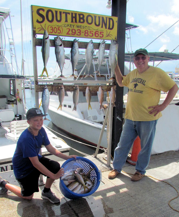 Bonitos, tuna and some Delicious snappers caugth in Key West fishing on charter Boat Southbound