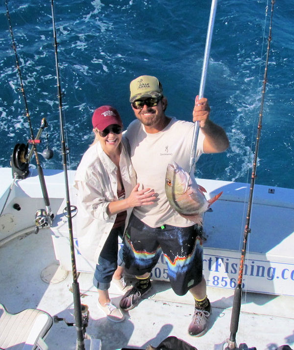 Delicoious Mutton Snapper caught in Key West fishing on charter boat southbound