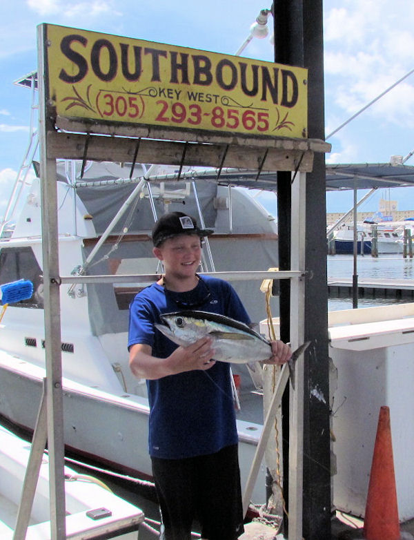 Skip Jack Tuna caught in Key West fishing on charter boat Southbound