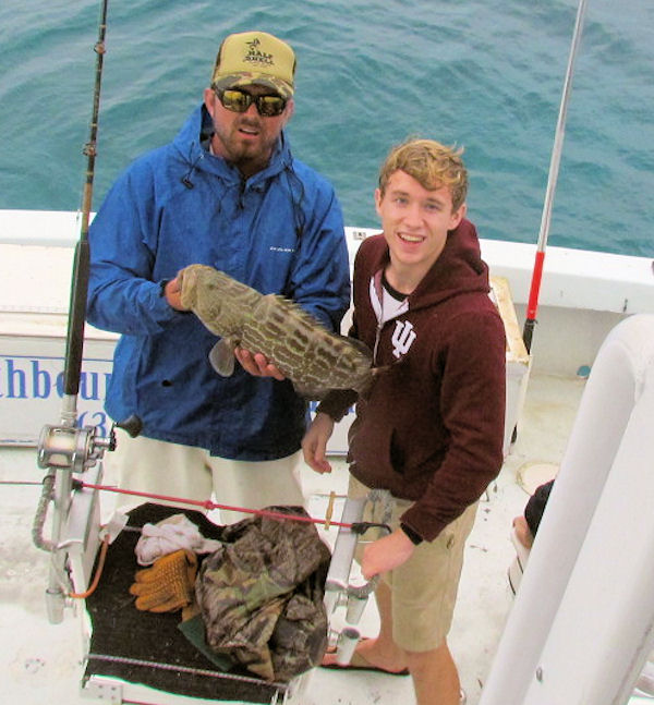 23 inch Black Grouper caught and released in Key West fishing on charter Boat Southbound