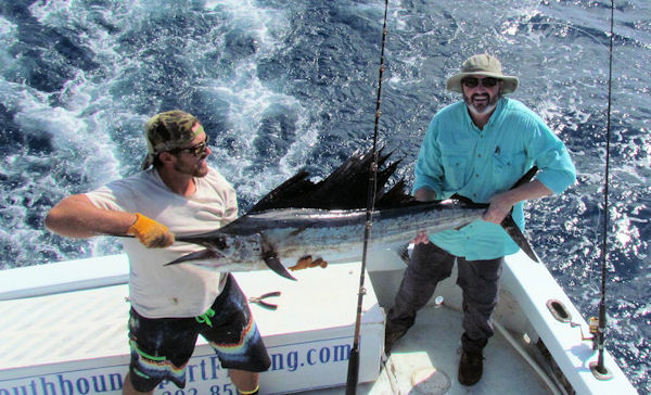 Sailfish Caught and relesed in Key West fishing on charter boat Southbound