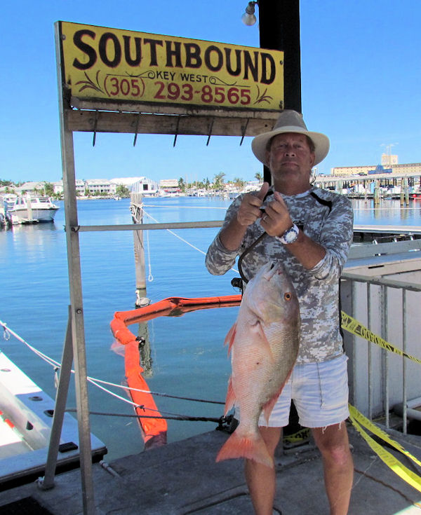Delicious Mutton Snapper caught in Key West fishing on charter boat Southbound