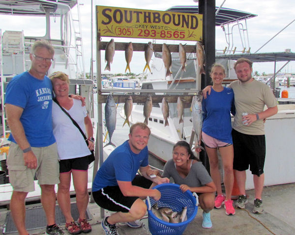 Delicious snappers caugth in Key West fishing on charter Boat Southbound
