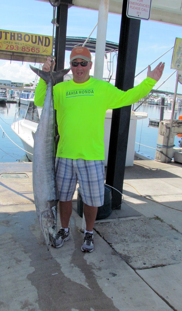 50 lb. Wahoo caught in Key West fishing on charter boat Soutbound