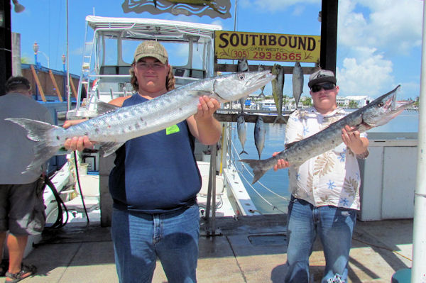 Big Barracudas caught in Key West fishing on charter boat Southbound