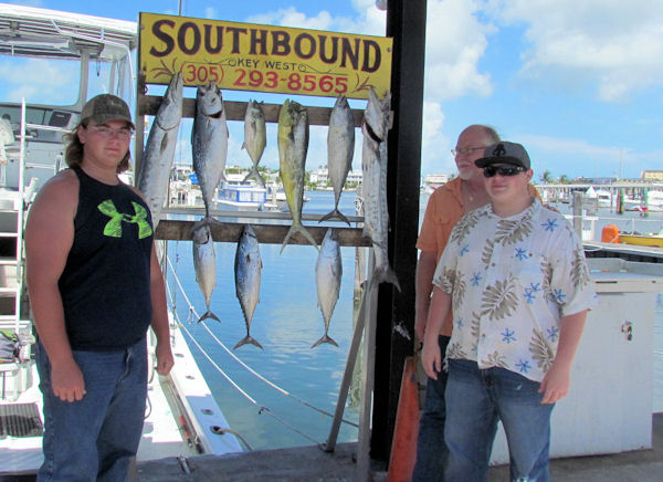 Bonitos and dolphin caught in Key West fishing on charter boat Southbound