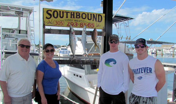 Reef fish caugth  in Key West fishing on charter boat Southbound