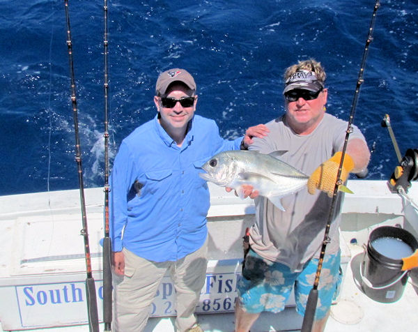 Horse Eye Jack caught and released in Key West fishing on Charte boat Southbound