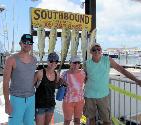 Mahi caught in Key West fishing on charter boat Southbound