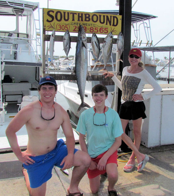 Kingfish, Tuan and Bonitos caught in Key West fishing on charter boat Southbound