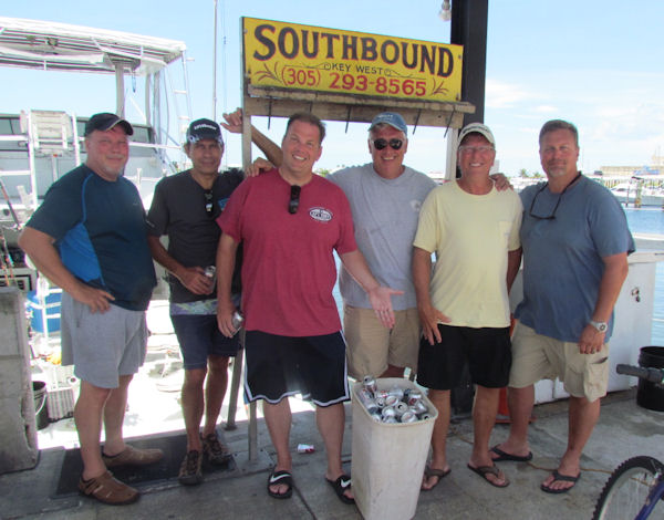 Limit of beer cans drank while in Key west fishing on charter boat Southbound