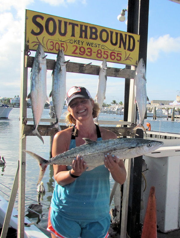 Big Cero Mackerel caught in Key West fishing on charter boat Southbound