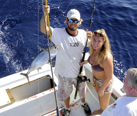 Black Fin Tuna caught aboard Southbound in Key West Florida in 2006