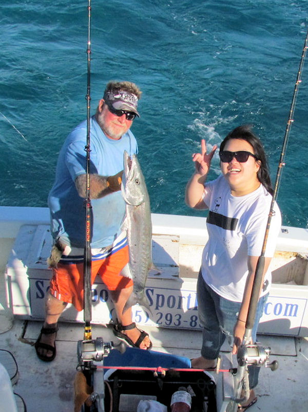 Big Barracuda caught and released in Key West fishing on charter boat Southbound