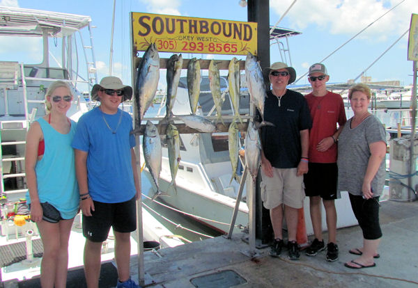 Dolphin and Bonitos caught in Key West fishing on charter boat Southbound