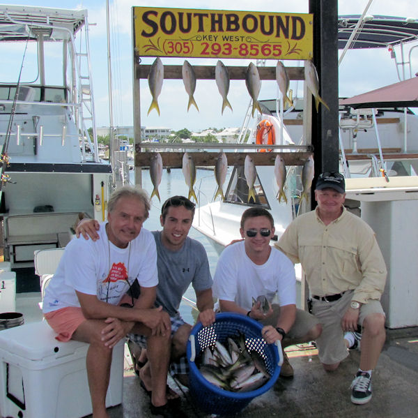 Snapper caught in Key West fishing on charter boat Southbound from Charter Boat Row