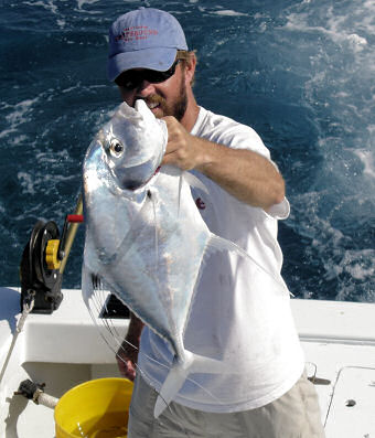 African Pompano caught aboard Southbound in Key West Florida in 2006